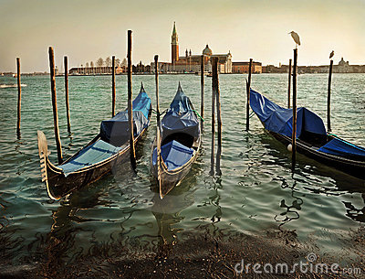 Venice and gondolas