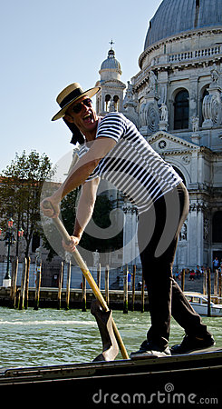 Venice gondolier Editorial Stock Image