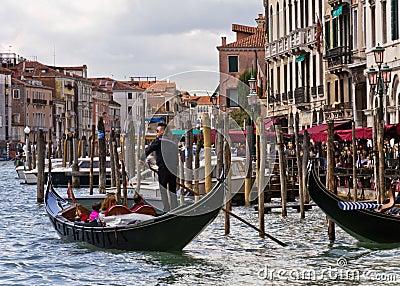 Venice Gondoliers Editorial Image