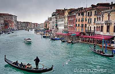 Venice Grand Canal Editorial Photo