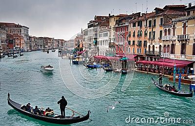 Venice Grand Canal Editorial Photo
