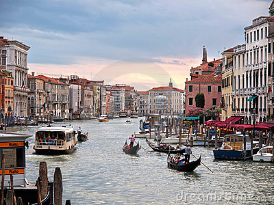 Venice - Grand Canal Editorial Photography