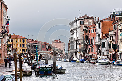 Venice Grand Canal Editorial Photography