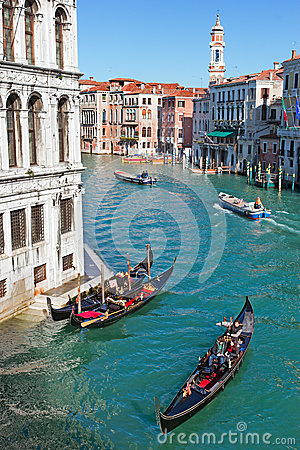 Venice Grand Canal Editorial Stock Photo