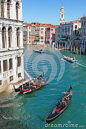 Venice Grand Canal Editorial Stock Photo