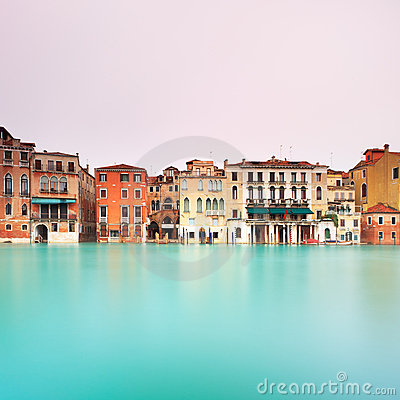 Venice, Grand Canal detail. Long exposure photo