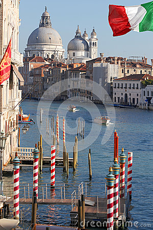 Venice with Grand canal in Italy