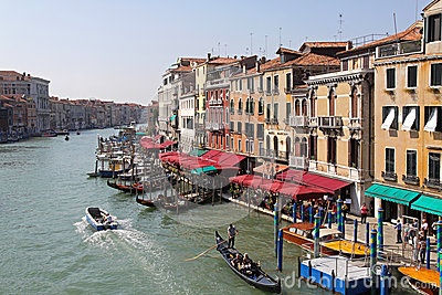 Venice Grand Canal Editorial Stock Image