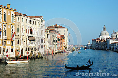 Venice Grand canal view,Italy, old city center - unesco heritage