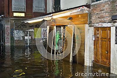 Venice high water 03 Editorial Stock Photo