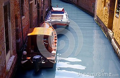 Venice, Italy, boats and buildings on the water