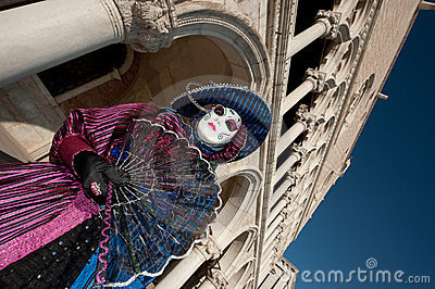 VENICE, ITALY - FEBRUARY 16: venetian mask Editorial Photography