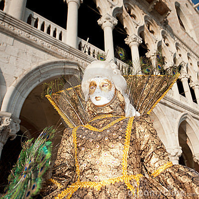 VENICE, ITALY - FEBRUARY 16: venetian mask Editorial Photo