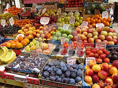 Venice Italy Fruit Stand