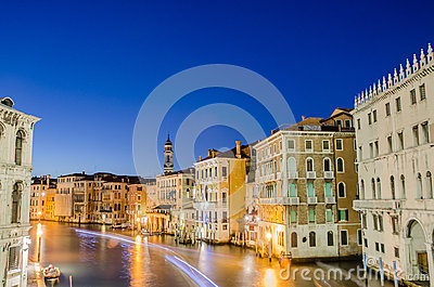 View from Rialto bridge Editorial Photography