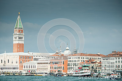 Venice from the laguna Editorial Stock Image