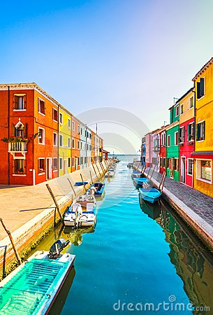 Free Venice Landmark, Burano Island Canal, Colorful Houses And Boats, Royalty Free Stock Image - 120826946