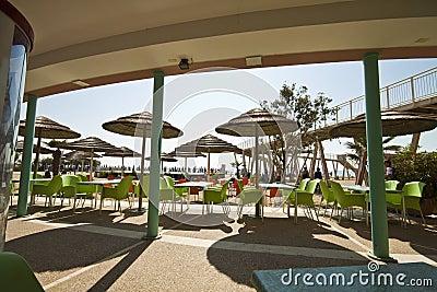 Venice - Lido, public beach Editorial Stock Photo