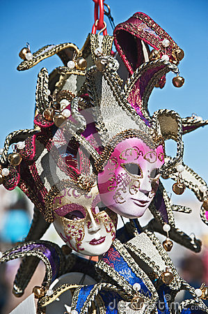 Venice masks with bells