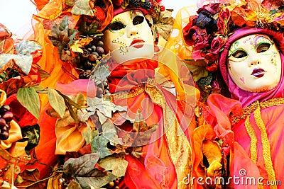 Venice Masks, Carnival. Italy.