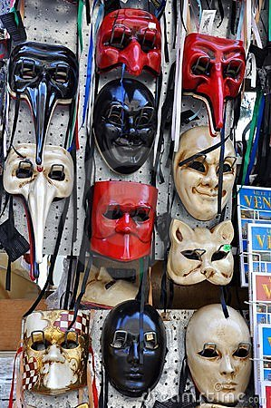 Free Venice Masks In An Italian Market Royalty Free Stock Photos - 13857938