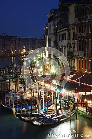 Venice night life ,Italy