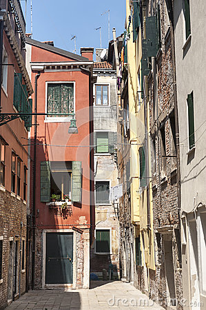 Venice, old houses
