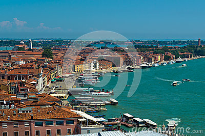 Venice roofs and harbor
