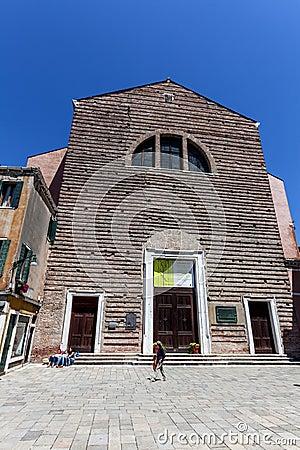 Venice s church Editorial Stock Image