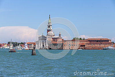 Venice s church Editorial Stock Image
