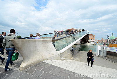 Venice s new Constitution Bridge Editorial Image