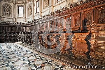 Venice: Saint George Church Choir Stock Photography ...
