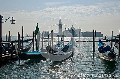 Venice scene with gondolas