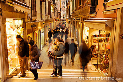Venice shopping Editorial Photography