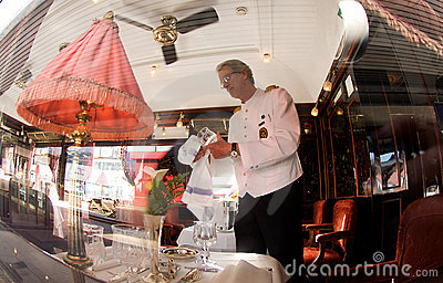 The Venice Simplon-Orient-Express - The Bar Car Editorial Photo