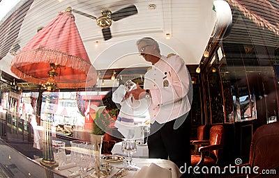 The Venice Simplon-Orient-Express - The Bar Car Editorial Photo