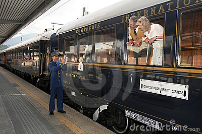 The Venice Simplon-Orient-Express - Conductor Editorial Photography