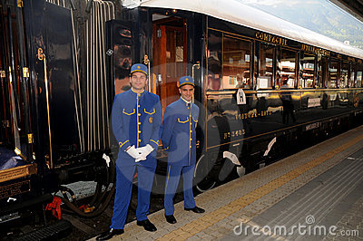 The Venice Simplon-Orient-Express - Conductors Editorial Photo