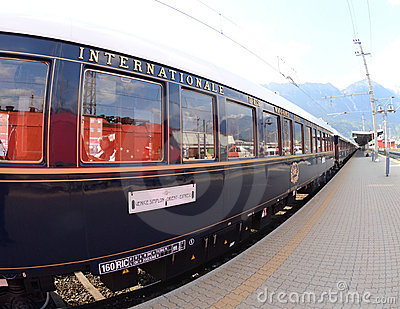 The Venice Simplon-Orient-Express in Innsbruck Editorial Image