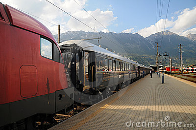The Venice Simplon-Orient-Express in Innsbruck Editorial Photo