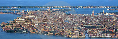Venice from the sky panorama