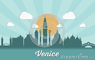 Venice skyline - Italy - vector illustration Vector Illustration