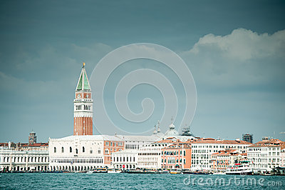 Venice with St Mark Campanile Editorial Image