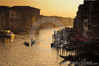 Venice sunset Editorial Stock Image