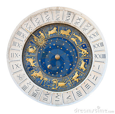 Venice tower clock dial cutout