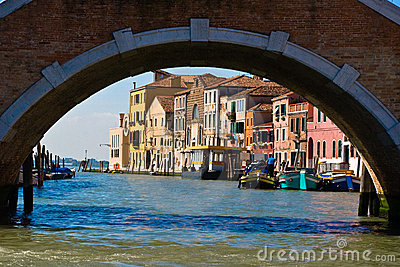 Venice under the bridge