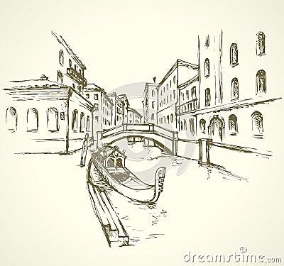 Free Venice. Vector Cityscape Stock Image - 78030421