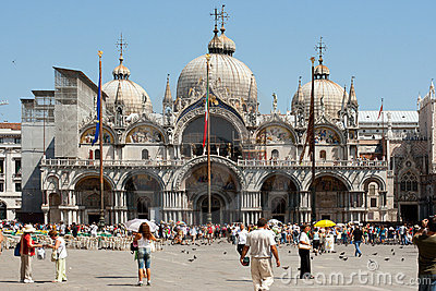Venice. View on Cathedral in St. Mark s square. Editorial Stock Image