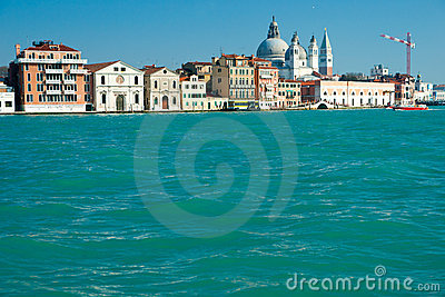 Venice, view of grand canal .
