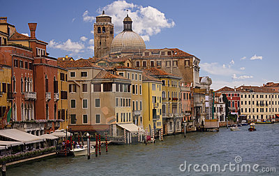 Venice view with the Grand Canal
